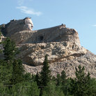 Picture - Crazy Horse Monument in progress, Custer.