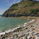 Picture - Criccieth Castle seen from the shore.
