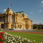Picture - The Croatian National Theatre in Zagreb.