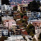 Picture - Overview of Lombard Street, San Francisco.