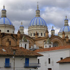 Picture - Blue domes on the skyline of Cuenca.