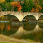 Picture - Historic bridge on the Cumberland River near Cumberland Falls.