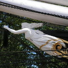 Picture - Figurehead of Cutty Sark docked in Greenwich.