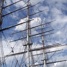 Picture - Masts of tall ship Cutty Sark in Greenwich.