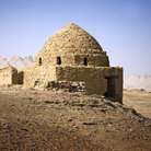 Picture - An old stone Old Mausoleum in the desert near the Dakhla Oasis.