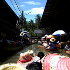 Picture - The Floating Market, Damnoen Saduak.