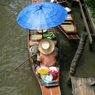 Picture - Goods for sale in a canoe at the Damnoen Saduak Floating Market.