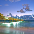 Picture - Early morning at the pier at Dania Beach.