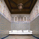 Picture - A couch in a small room at the Marrakesh Museum.