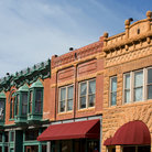 Picture - Typical old buildings found in Deadwood.
