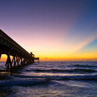 Picture - Deerfield Pier at Sunrise.