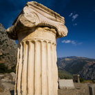 Picture - Close-up of ionic column in Delphi (Delfi).