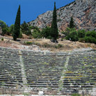 Picture - Ancient ruins at Delphi.