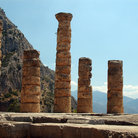 Picture - Columns and ancient Delphi.