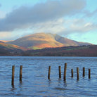 Picture - Clouds over Blencathra, seen from Derwentwater.
