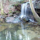 Picture - Laurel Falls cascading onto rocks, DeSoto State Park.