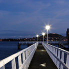 Picture - The Orakei Wharf looking towards Mt Victoria and Devonport.