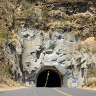 Picture - Tunnel entrance through Diamond Head Mountain in Hawaii.