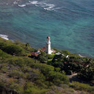 Picture - Diamond Head Lighthouse built on the side of Diamond Head Crater in Honolulu.