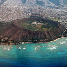 Picture - Aerial view of Diamond Head Crater, Oahu.