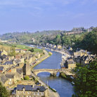 Picture - Aerial view of the river and town of Dinan.