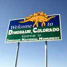 Picture - Welcome Sign for Dinosaur, Colorado.
