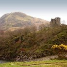 Picture - View of the Dolbadarn Castle.