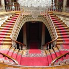 Picture - Crystal staircase of the Dolmabahce Palace in Istanbul.