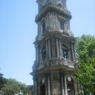Picture - Detail of the Dolmabahce clock tower in Istanbul.