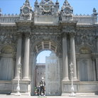 Picture - The Imperial Gate of the Dolmabahce Palace in Istanbul.
