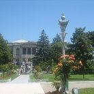 Picture - The Imperial Gardens of the Dolmabahce Palace in Istanbul.