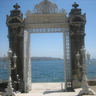 Picture - View of the Bosphorous from the Dolmabahce Palace in Istanbul.