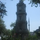 Picture - The Dolmabahce clock tower built in 1890-95 in Istanbul.