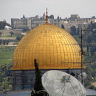 Picture - Golden roof of the Dome of the Rock in Jerusalem.