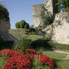 Picture - Garden and ruins at Domfront.