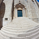 Picture - Stairs leading to a doorway of the Dominican Monastery in Dubrovnik.