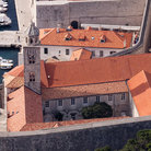 Picture - A birds eye view over the Dominican Monastery in Dubrovnik.