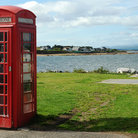 Picture - Traditional telephone booth in Dornoch.