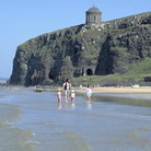 Picture - Benone Strand and Downhill Castle in Londonderry.