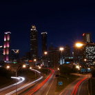 Picture - Downtown Atlanta at night.