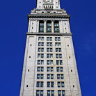 Picture - Famous clock tower on the Custom House in Boston, MA.