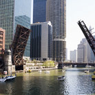 Picture - Draw bridges in downtown Chicago, IL.