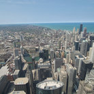 Picture - Looking northeast from Sears Tower Skydeck across the Loop.