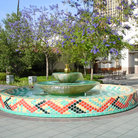 Picture - Fountain in downtown Los Angeles.