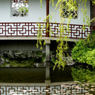 Picture - Reflection in a pond at Dr. Sun Yat-Sen Classical Chinese Garden in Vancouver.