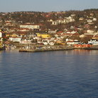 Picture - Overview of Drobak on Oslofjord.