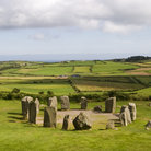 Picture - View over the Celtic stone circle at Drombeg.