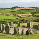 Picture - View over the Drombeg Stone Circle.