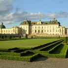 Picture - Hedges in front of the Drottningholm Palace in Stockholm.