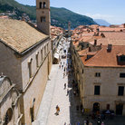Picture - The Franciscan Monastery located along a main street in Dubrovnik.
